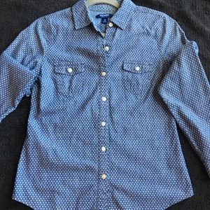 Old Navy long sleeve shirt, size XS.